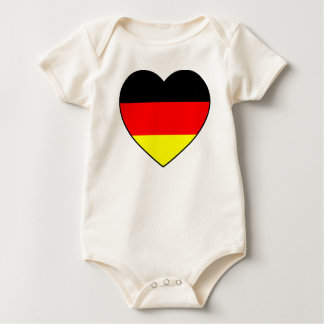 """Germany heart"" Babybody bio football WM Baby Bodysuit"