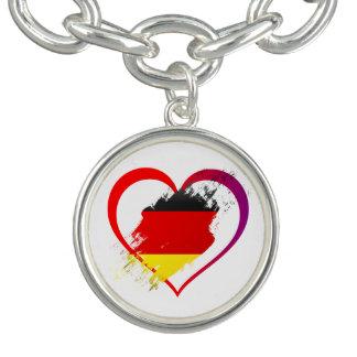 Germany heart charm bracelets