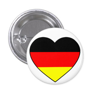 Germany heart football Germany 1 Inch Round Button