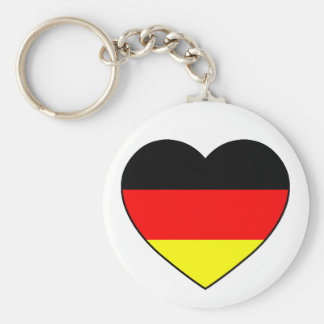 "Germany heart football supporter ""Germany "" Keychain"