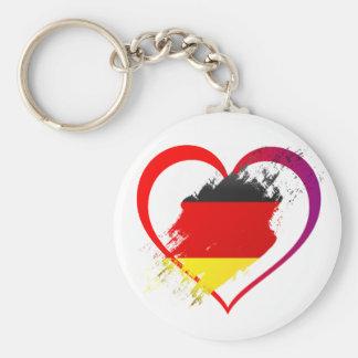 Germany heart keychain