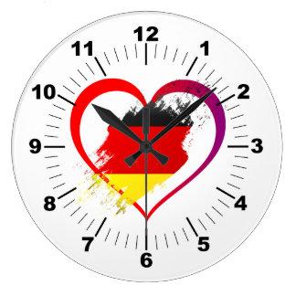 Germany heart large clock