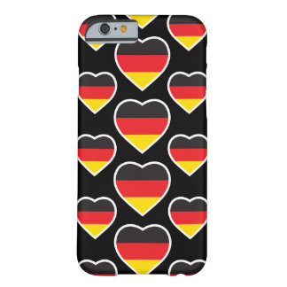 GERMANY HEART SHAPE FLAG BARELY THERE iPhone 6 CASE
