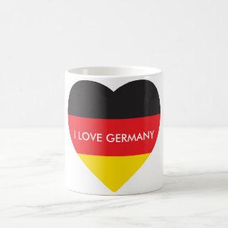 GERMANY HEART SHAPE FLAG COFFEE MUG