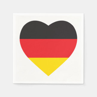 GERMANY HEART SHAPE FLAG DISPOSABLE NAPKIN