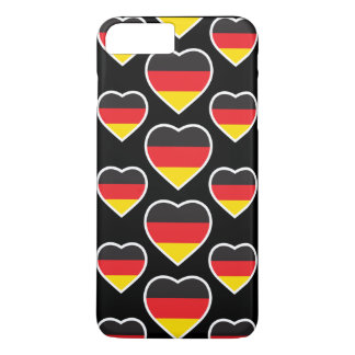 GERMANY HEART SHAPE FLAG iPhone 7 PLUS CASE