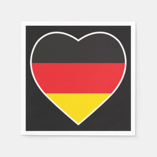 GERMANY HEART SHAPE FLAG PAPER NAPKINS