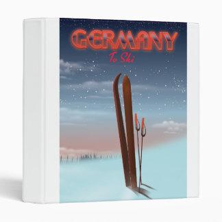 Germany Ice Ski travel poster Vinyl Binders