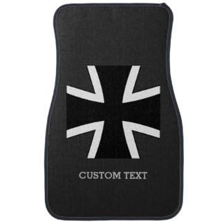 Germany Iron Cross car mats w/ custom text Car Mat