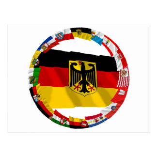 Germany its Laender Waving Flags Post Cards