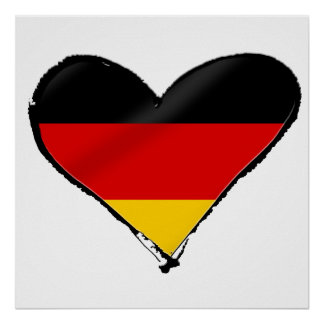 Germany love heart - My big German heart Poster