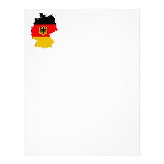 Germany map letterhead