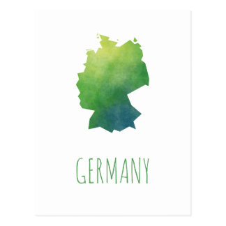 Germany Map Postcard