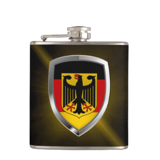 Germany Metallic Emblem Hip Flask