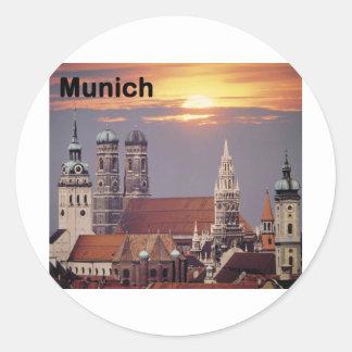 Germany Munich (St.K) Classic Round Sticker