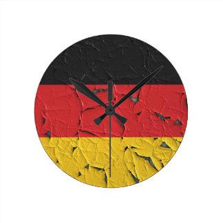 Germany Nation Europe Flag National Patriotism Round Clock
