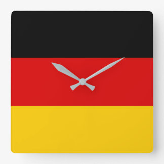 Germany National World Flag Square Wall Clock