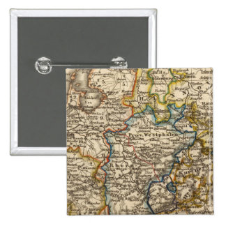 Germany, Netherlands, and Belgium 2 Inch Square Button