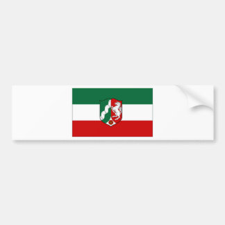 Germany North Rhine Flag Bumper Sticker