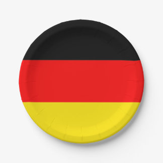 Germany Party Plates 7 Inch Paper Plate