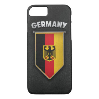 Germany Pennant with high quality leather look iPhone 8/7 Case