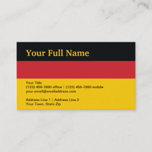 Germany business cards profile cards zazzle ca germany plain flag business card reheart Images