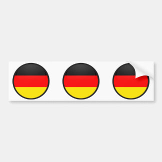 Germany quality Flag Circle Bumper Sticker