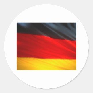 GERMANY ROUND STICKER