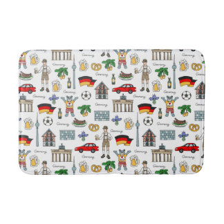 Germany | Symbols Pattern Bath Mat