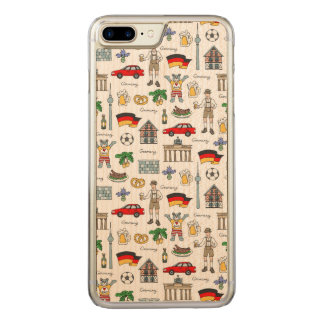 Germany | Symbols Pattern Carved iPhone 8 Plus/7 Plus Case