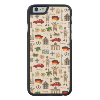 Germany | Symbols Pattern Carved Maple iPhone 6 Case