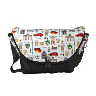 Germany | Symbols Pattern Commuter Bag
