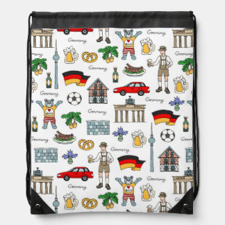 Germany | Symbols Pattern Drawstring Bag