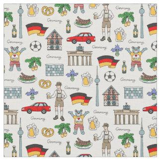 Germany | Symbols Pattern Fabric