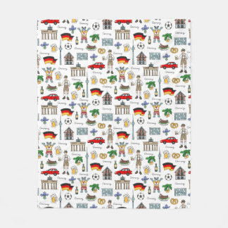 Germany | Symbols Pattern Fleece Blanket