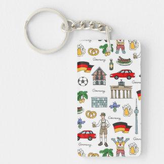 Germany | Symbols Pattern Keychain