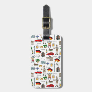 Germany | Symbols Pattern Luggage Tag