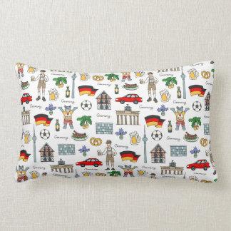 Germany | Symbols Pattern Lumbar Pillow