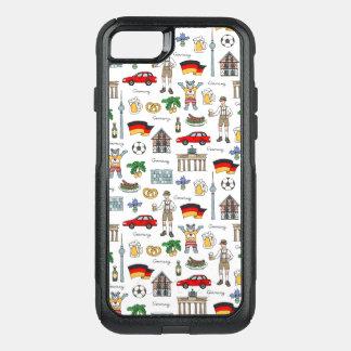 Germany | Symbols Pattern OtterBox Commuter iPhone 8/7 Case