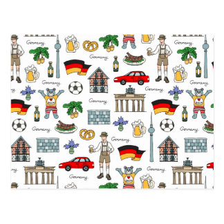 Germany | Symbols Pattern Postcard