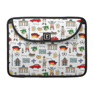 Germany | Symbols Pattern Sleeve For MacBook Pro