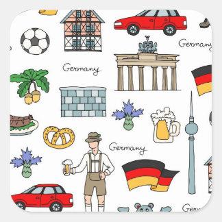 Germany | Symbols Pattern Square Sticker