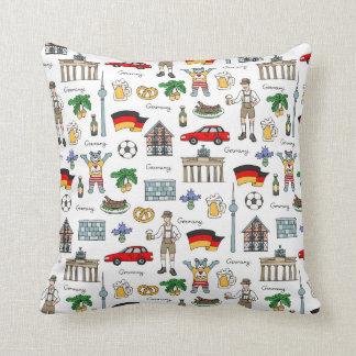 Germany | Symbols Pattern Throw Pillow