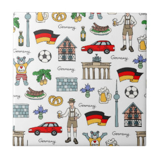 Germany | Symbols Pattern Tile