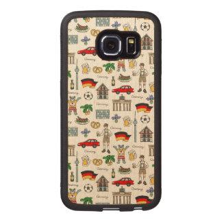 Germany | Symbols Pattern Wood Phone Case