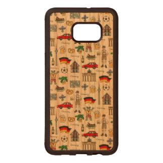 Germany | Symbols Pattern Wood Samsung Galaxy S6 Edge Case