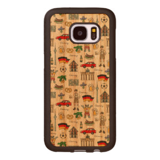 Germany | Symbols Pattern Wood Samsung Galaxy S7 Case