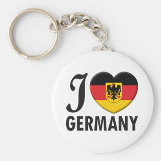 Germany v2 Love Basic Round Button Keychain