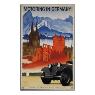 Germany Vintage Travel Poster Ad Retro Prints