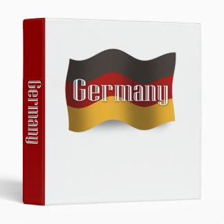 Germany Waving Flag Vinyl Binder